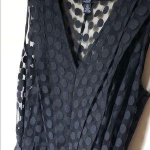 Alfani Black polka dot dress